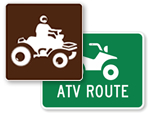ATV Trail Signs