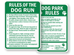 Dog Rules Signs
