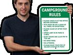 Campsite Etiquette Signs