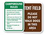 Campsite Rules Signs