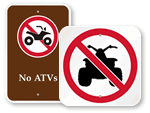 No ATV Signs