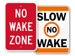 No Wake Signs