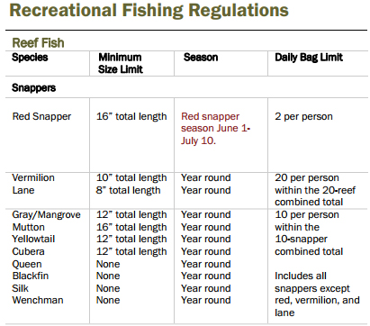 Recreational Fishing Regulations