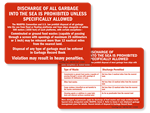 Boat / Vessel Dumping Law Signs