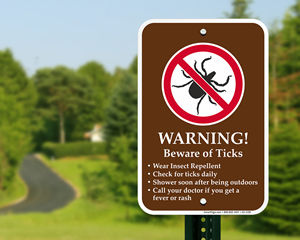 Tick Warning Signs - Tick Habitat Symbol | Camping Hazards