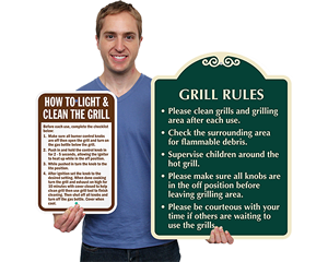 Grill Rules Signs