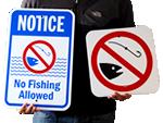 No Fishing Signs