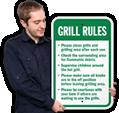 Grill Etiquette Signs