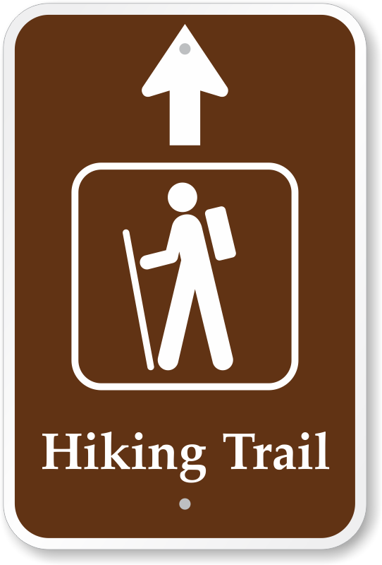 Trail Signs, Hiking Signs, Hiking Trail Symbols amp; Trail Markers.