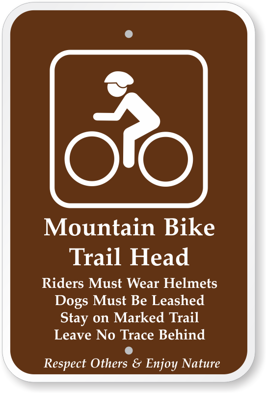 Biking signs