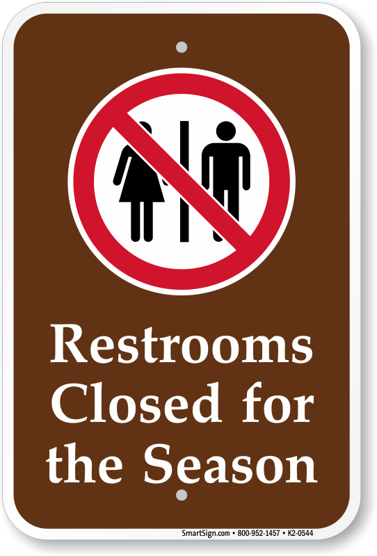 Gallery For gt Camping Restroom Signs