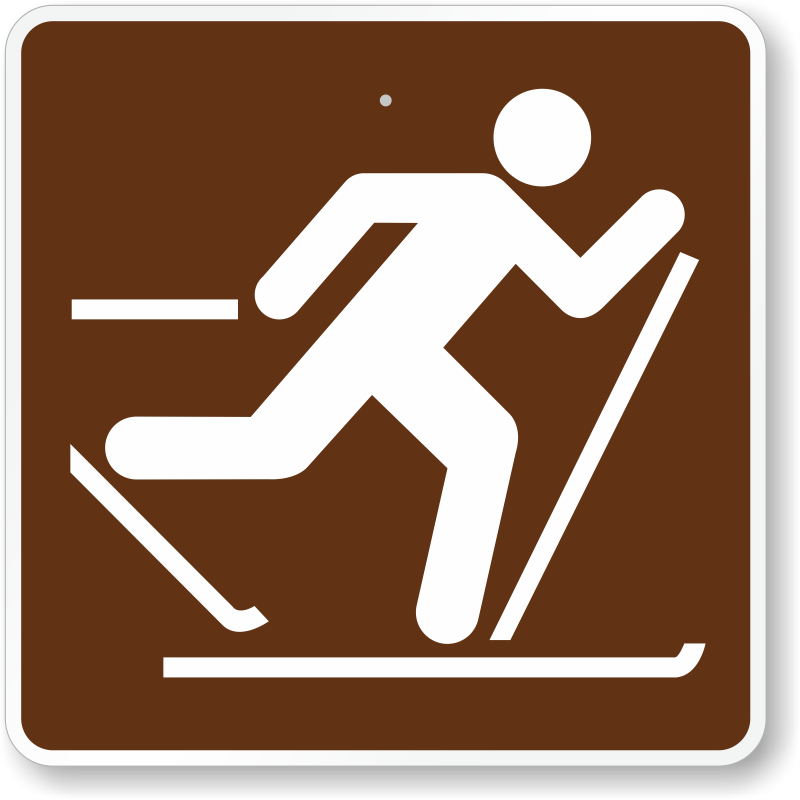 Cross Country Skiing, MUTCD Campground Guide Sign, SKU: X