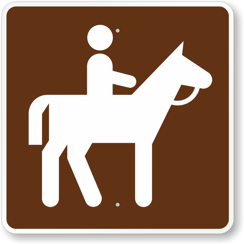 Horse Trail, MUTCD Guide Sign for Campground, SKU: X-RS-064