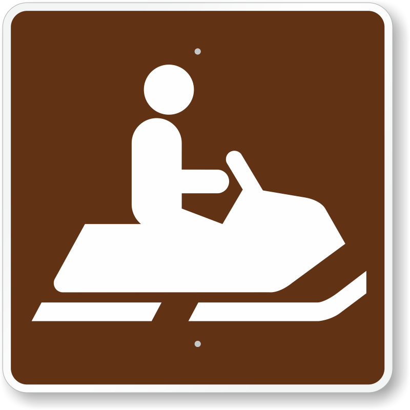 Snowmobiling, MUTCD Guide Sign For Campground, SKU: X-RS-052