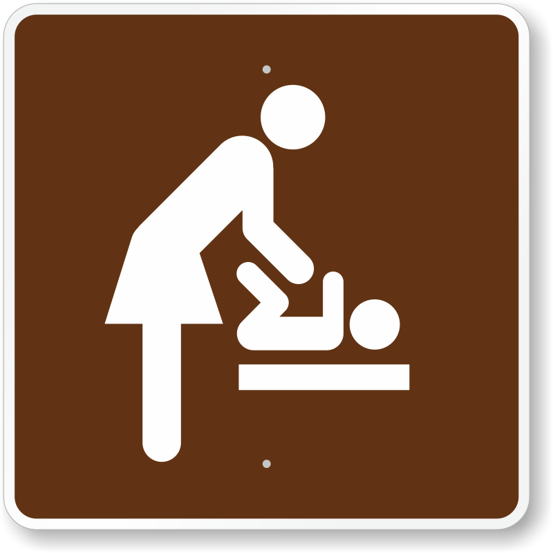 Baby Changing Station, Women's Room, MUTCD Guide Sign, SKU
