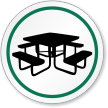 Picnic Area Symbol ISO Circle Sign