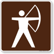 Archer Symbol Sign For Campsite