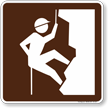Climbing (Rock) Symbol Sign For Campsite