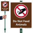 Do Not Feed The Animals LawnBoss Sign Kit