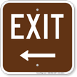 Exit Left Arrow Campground Sign