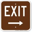 Exit Right Arrow Campground Sign