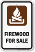 Firewood For Sale Campground Sign