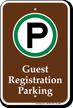 Guest Registration Parking Campground Sign