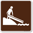 Hand Launch Symbol Sign For Campsite