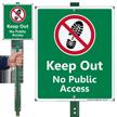 Keep Out No Public Access Lawnboss Sign
