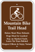Mountain Bike Trail Head Campground Sign