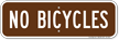 No Bicycles on Campground Sign