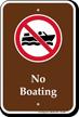 No Boating, Marine Recreation Sign