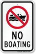 No Boating Recreation Sign with Symbol