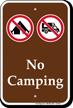 No Campings Sign
