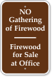 Firewood For Sale At Office Campground Sign