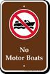 No Motor Boats Sign