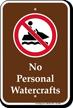 No Personal Watercrafts Marine Sign