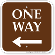 One Way Left Arrow Campground Sign