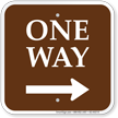 One Way Right Arrow Campground Sign