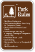 Park Rules Fires Only In Designated Areas Sign