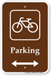 Parking Bike Bicycle Bidirectional Sign