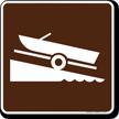 Ramp (Launch) Symbol Sign For Campsite