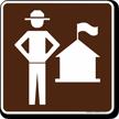 Ranger Station Symbol Sign For Campsite