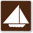 Sail Boating Symbol Sign For Campsite