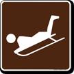 Sledding Symbol Sign For Campsite