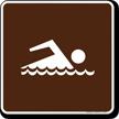 Swimming Symbol Sign For Campsite
