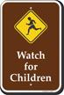 Watch For Children Campground Sign