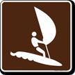 Wind Surf Symbol Sign For Campsite