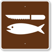 Fish Cleaning, MUTCD Guide Sign for Campground