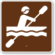 Kayaking, MUTCD Guide Sign for Campground